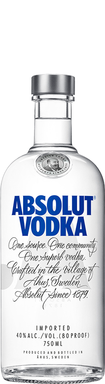 Botella Absolut Vodka