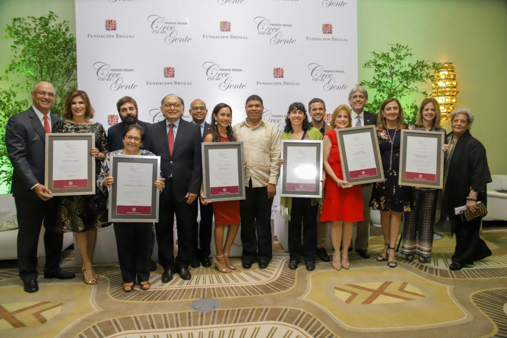 Ganadores Premios Brugal Cree en su Gente 2018 - Fundacion Brugal